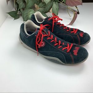 Piloti Prototipo Navy/Red Suede Driving Shoe